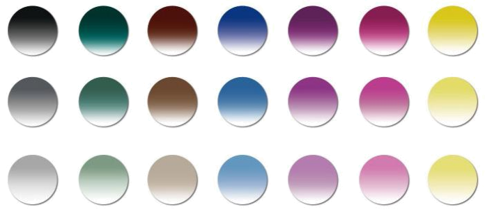 YoColors gradient tints